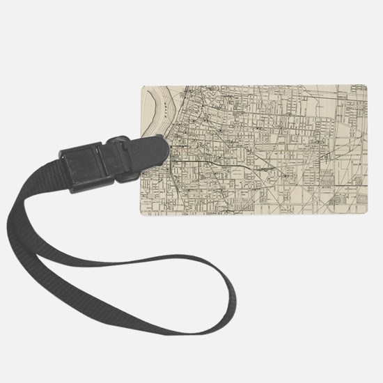 Vintage Map of Memphis Tennessee Luggage Tag