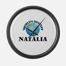 World's Hottest Natalia Large Wall Clock