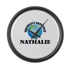 World's Hottest Nathalie Large Wall Clock