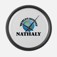 World's Hottest Nathaly Large Wall Clock