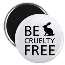 Be Cruelty-Free Bunny Logo Magnets