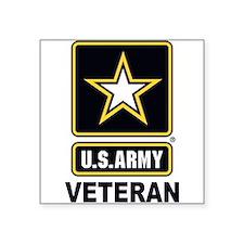 """Cute Army veteran Square Sticker 3"""" x 3"""""""