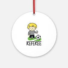 Soccer Referee Ornament (Round)