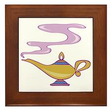 Magic Lamp Framed Tile