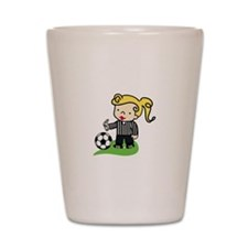 Referee Girl Shot Glass