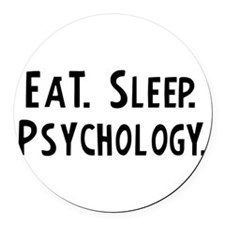 Cute Psychologist Round Car Magnet