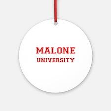 MALONE UNIVERSITY Ornament (Round)