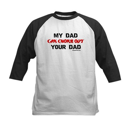 MY DAD CHOKED OUT YOUR DAD Kids Baseball Jersey