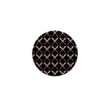 Baseball Bat Pattern Mini Button