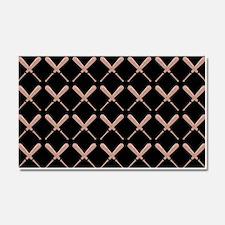 Baseball Bat Pattern Car Magnet 20 x 12