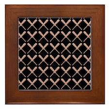 Baseball Bat Pattern Framed Tile