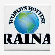 World's Hottest Raina Tile Coaster