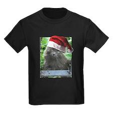 Christmas Russian Blue Long-haired Cat T-Shirt