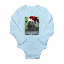 Christmas Russian Blue Long-haired Cat Body Suit