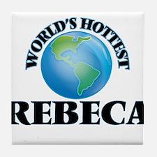 World's Hottest Rebeca Tile Coaster