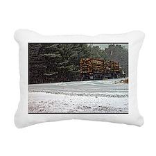 Winter Travel Rectangular Canvas Pillow