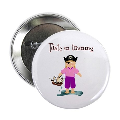 """Pirate girl 2.25"""" Button (10 pack)"""