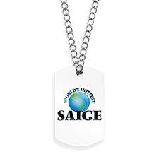 World's Hottest Saige Dog Tags