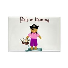 Pirate girl Rectangle Magnet (10 pack)