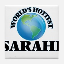World's Hottest Sarahi Tile Coaster