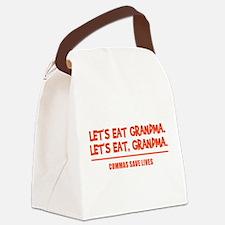 LET'S EAT GRANDMA. Canvas Lunch Bag