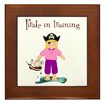 Pirate girl Framed Tile