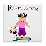 Pirate girl Tile Coaster