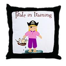 Pirate girl Throw Pillow