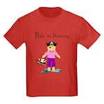Pirate girl Kids Dark T-Shirt