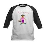 Pirate girl Kids Baseball Jersey