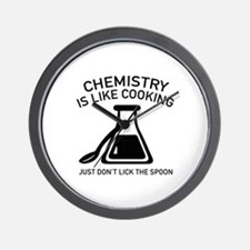 Chemistry Is Like Cooking Wall Clock