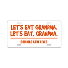 LET'S EAT GRANDMA. Aluminum License Plate