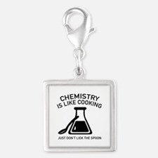 Chemistry Is Like Cooking Silver Square Charm