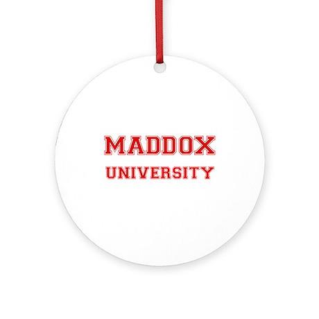 MADDOX UNIVERSITY Ornament (Round)