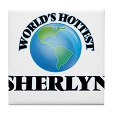 World's Hottest Sherlyn Tile Coaster