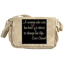 HAIR STYLIST QUOTE Messenger Bag
