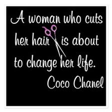 HAIR STYLIST QUOTE 5.25 x 5.25 Flat Cards