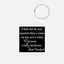 CRAWFORD HAIR QUOTE Keychains
