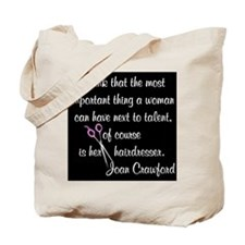 CRAWFORD HAIR QUOTE Tote Bag