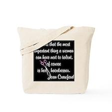 CRAWFORD HAIR QUOTE Tote Bag