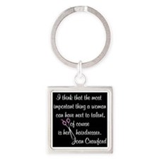 CRAWFORD HAIR QUOTE Square Keychain