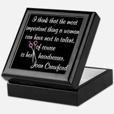 CRAWFORD HAIR QUOTE Keepsake Box