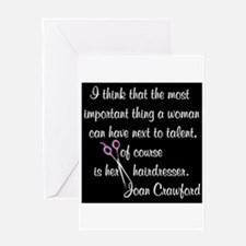 CRAWFORD HAIR QUOTE Greeting Card