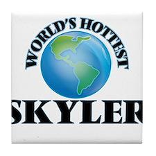World's Hottest Skyler Tile Coaster