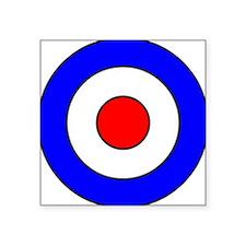 "Cute British military Square Sticker 3"" x 3"""