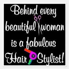 INSPIRING HAIR STYLIST 5.25 x 5.25 Flat Cards