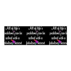 HAIR CUT QUOTE Wall Decal