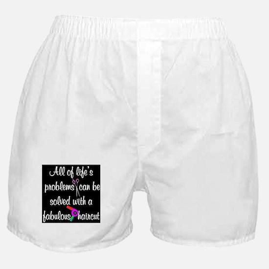 HAIR CUT QUOTE Boxer Shorts