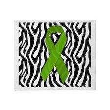 Kidney Ribbon Zebra Print Throw Blanket