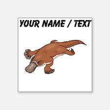 Custom Brown Platypus Sticker